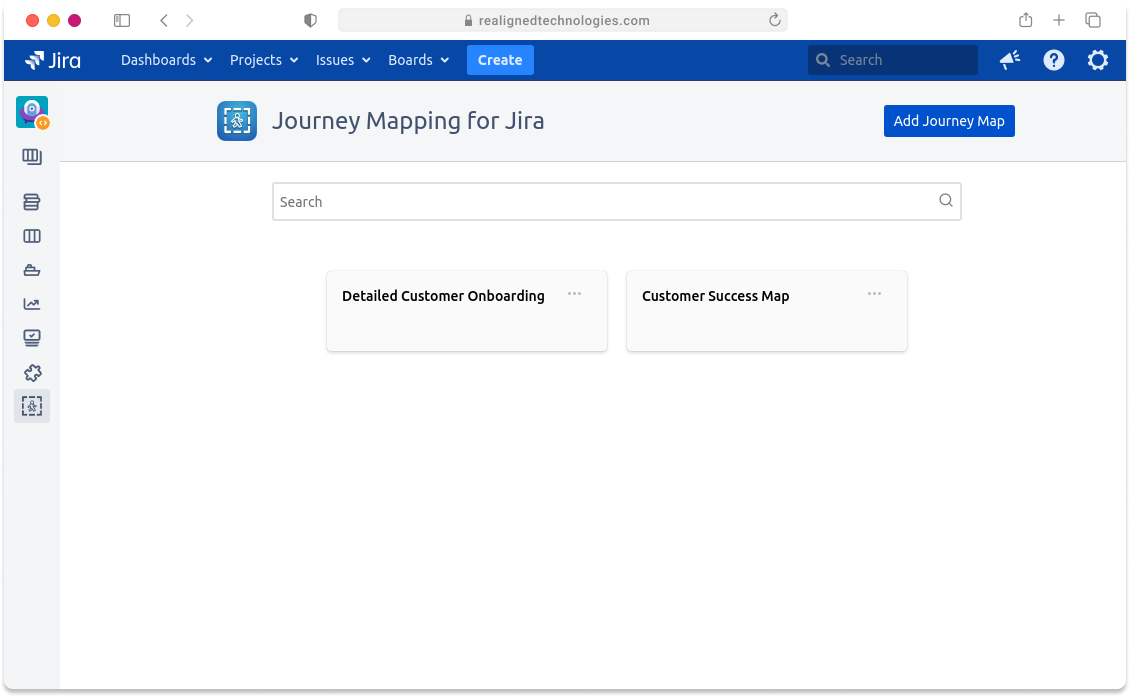 Journey Mapping Screenshot